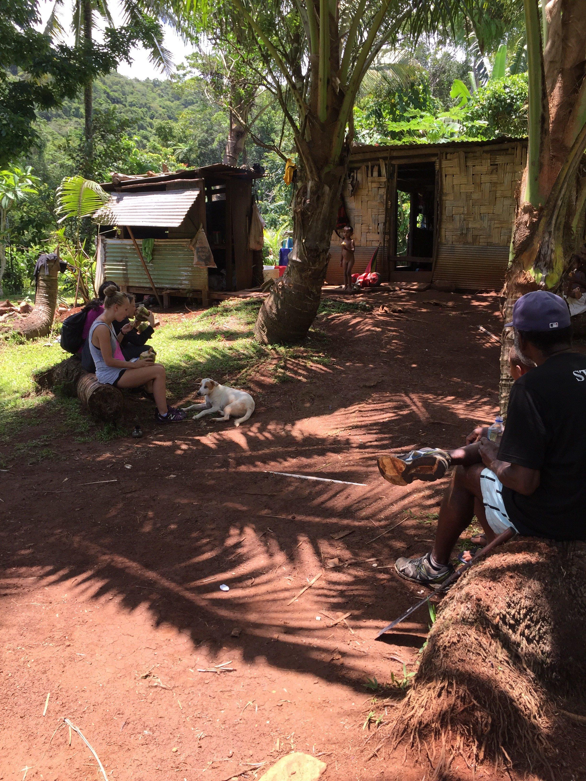 The hut where we had coconuts and roti.