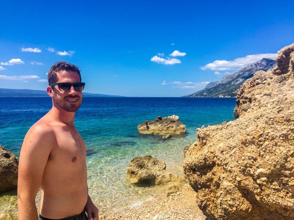 A beach on the Dalmatian Coast, Croatia