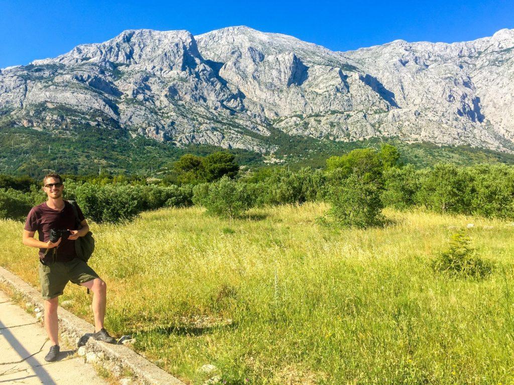 The Dalmatian Coast mountains in Croatia