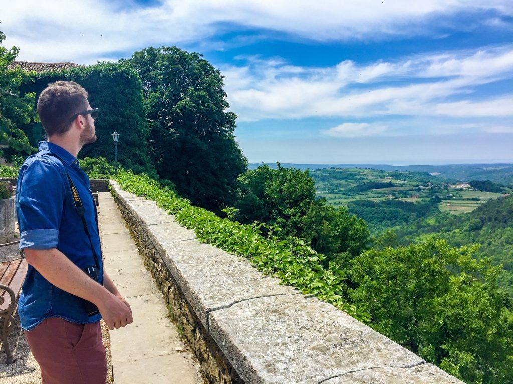 Our view in Groznjan in Istria, Croatia