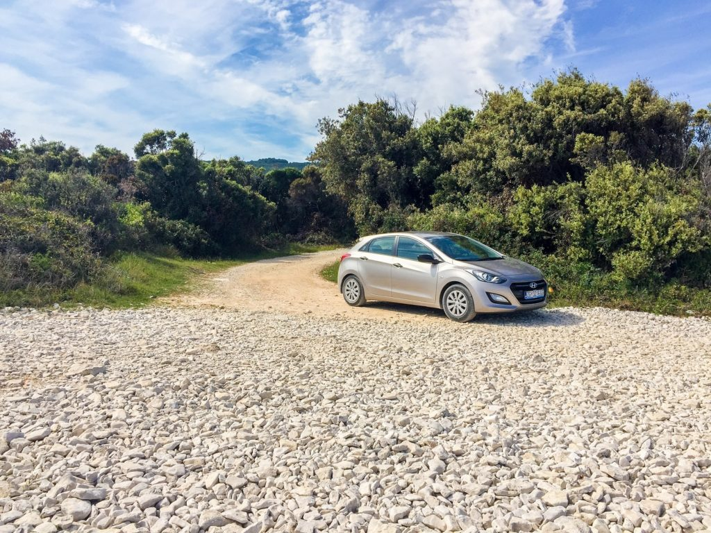 Our car on the coast of Istria.
