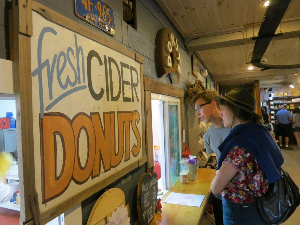 Fresh cider donuts in New York State's Lake George area.