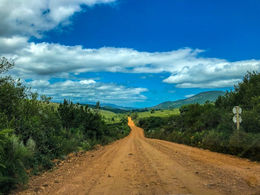 Dirt road in South Africa