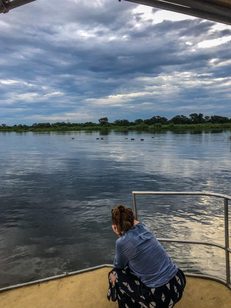 The Zambezi River in the Caprivi Strip, Namibia.