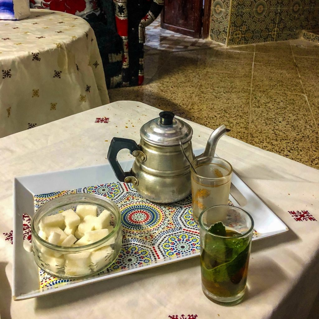 Mint tea in Fez, Morocco.