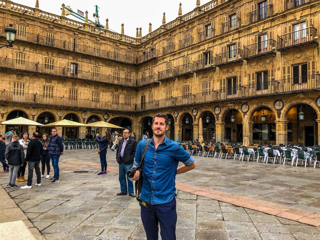 Jackson in a square in Salamanca