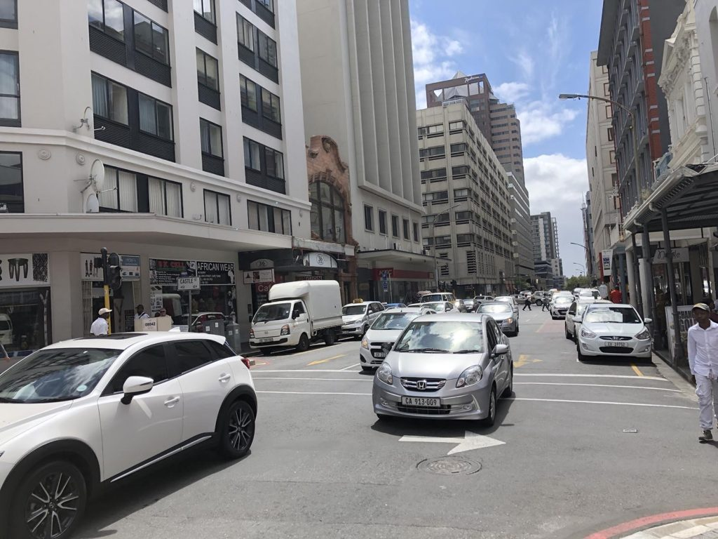 White cars in Cape Town